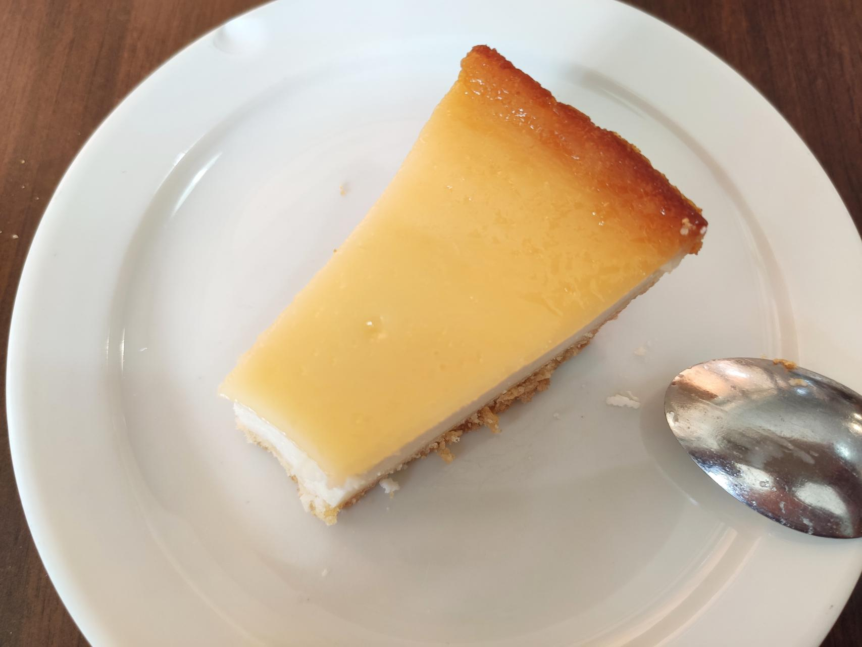 The delicious cheese cake I wasn't patient enough to take a photo of first...