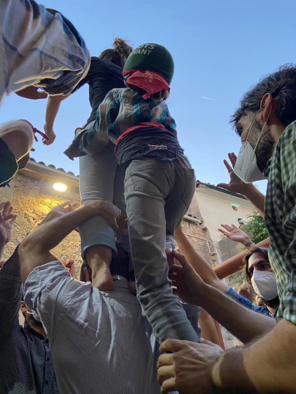 The Castellers rehearsing in Manacor.