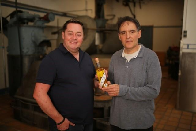 Neven with Tomeu of Can Det Olive Press.