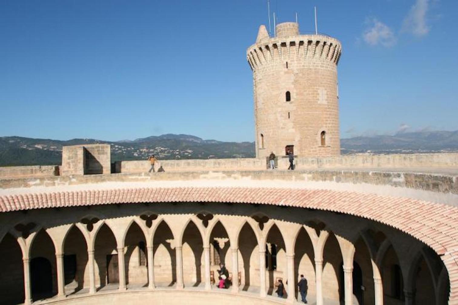 Bellver Castle circular courtyard & tower.