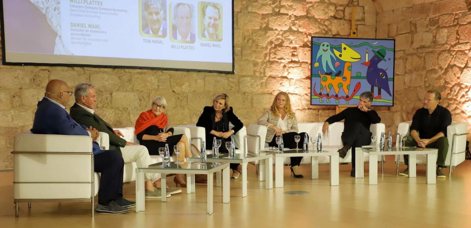 Round Table discussion with Lutz Minkner, Willi Plattes, Carmen Riu, Sabine Christiansen, Corinna Graf, Toni Nadal & Daniel Wahl.