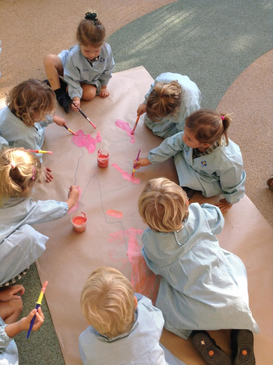The nursery children at Queen's College have been finding out about themselves.