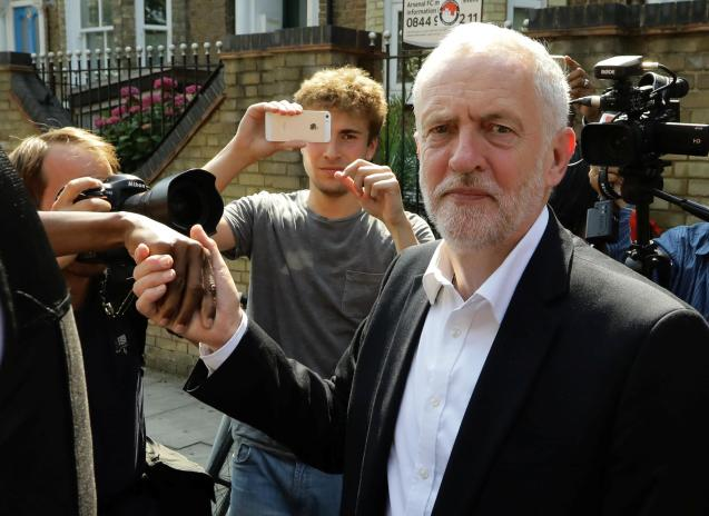 Britain's opposition Labour Party leader, Jeremy Corbyn