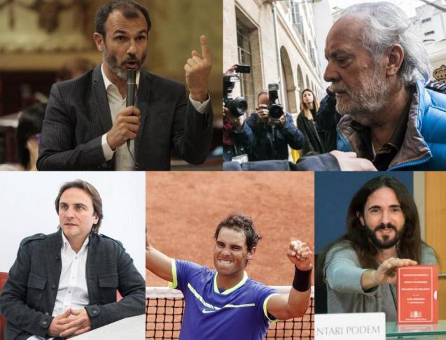 The five from the top: Biel Barceló, Tolo Cursach, Joan Miralles, Rafa Nadal and Baltasar Picornell.