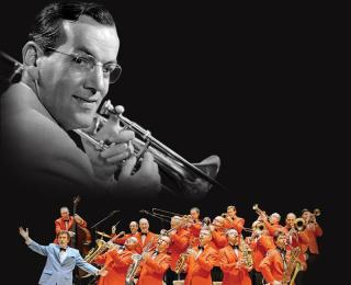 Ray McVay with the Glenn Miller Orchestra at the Trui Theatre.