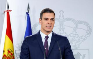 Spain's Prime Minister Pedro Sanchez holds a news conference after an extraordinary cabinet meeting in Madrid.