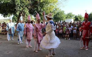 Cossiers dance in Alaro on Saturday.