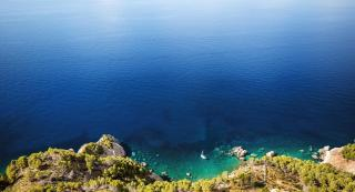 A beautiful view off the coast of Majorca.