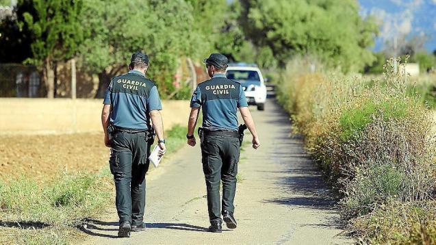 The Guardia Civil at the scene