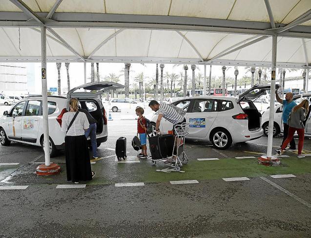 Taxi at Palma airport