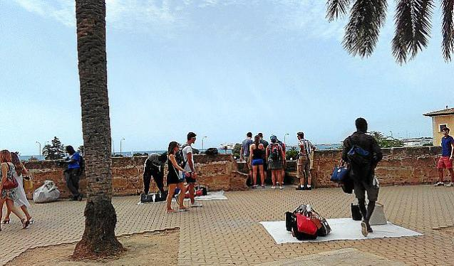Street traders in Palma