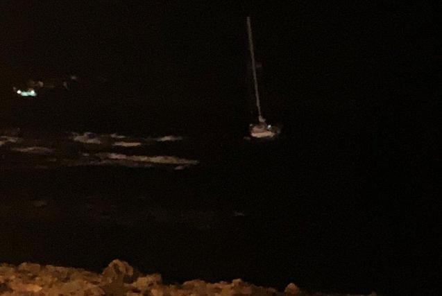 Rescue of the sailing boat