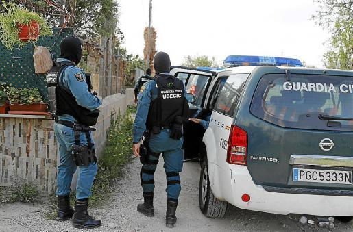 Guardia Civil during an intervention