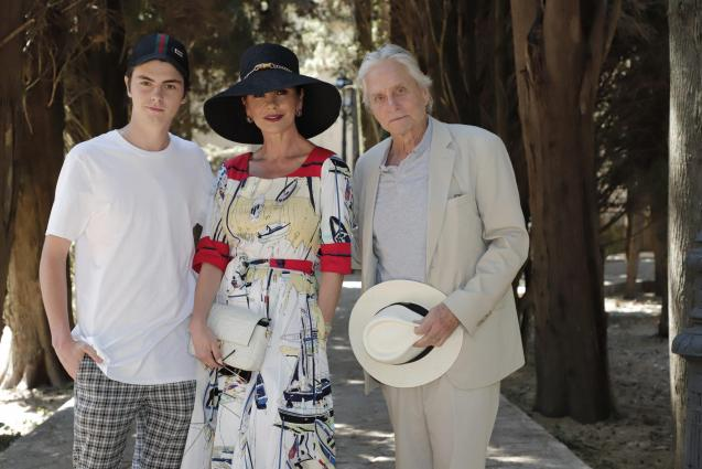 Michael Douglas and his family