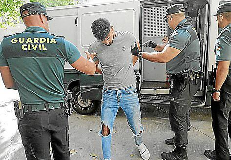Guardia Civil with a suspect