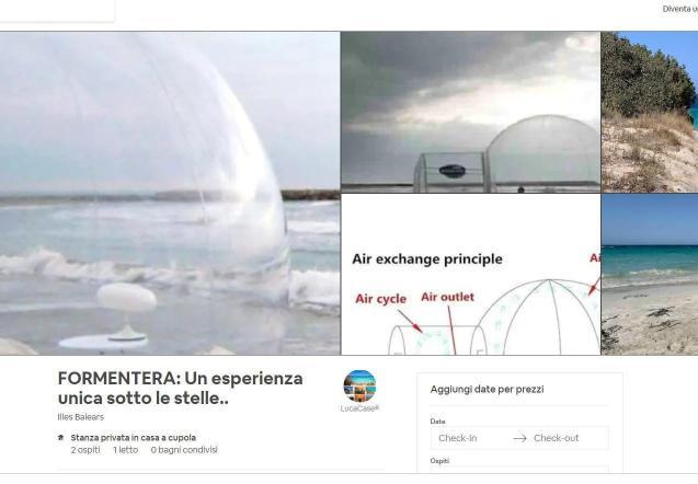 Plastic igloo in Formentera