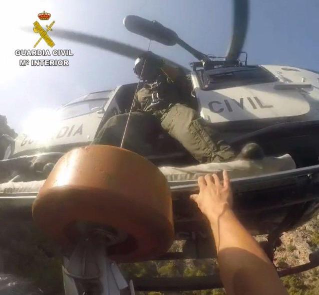 Scene from the rescue operation in Alcudia