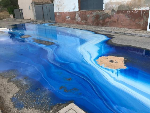 Scene of the spill.