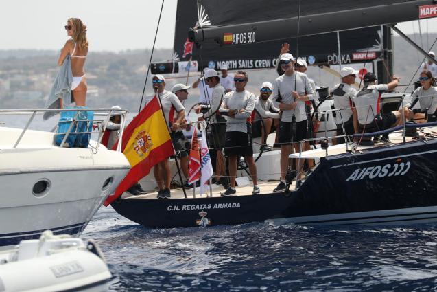 King Felipe during the regatta