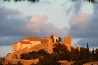 Sant Salvador in Arta; fireworks for the fiestas on Monday.