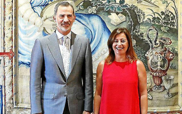 King Felipe with the President of the Balearics