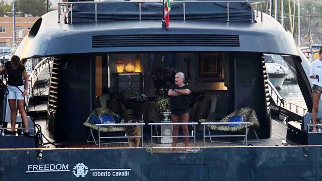 Roberto Cavalli's yacht Freedom.