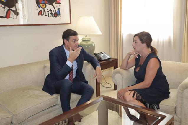 Armengol with Pedro Sanchez