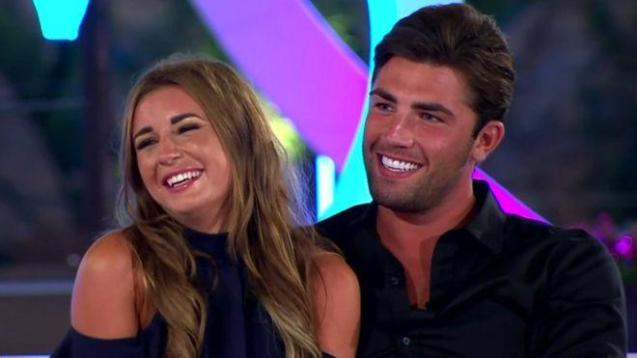 Dani and Jack on Love Island.