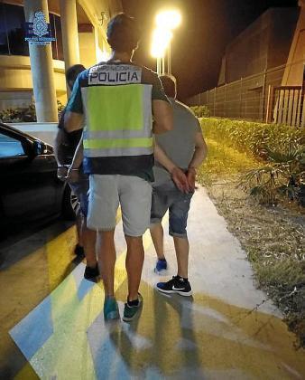 Arrest in the Playa de Palma.