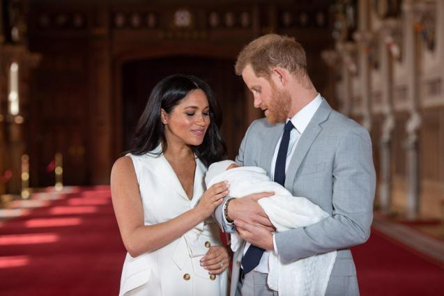 Prince Harry and Meghan with baby Archie