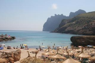 Cala Molins in Cala Sant Vicenç, where there are fireworks on Sunday night.