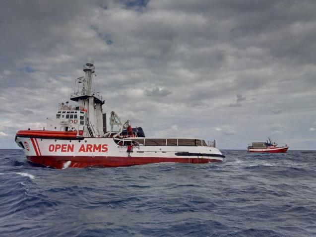 NGO Open Arms rescue boat