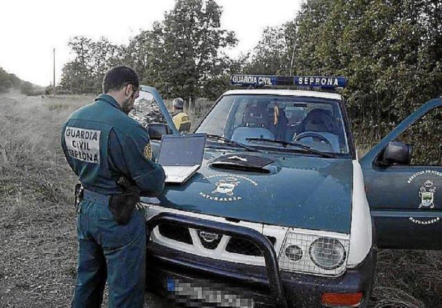 Guardia Civil at the scene