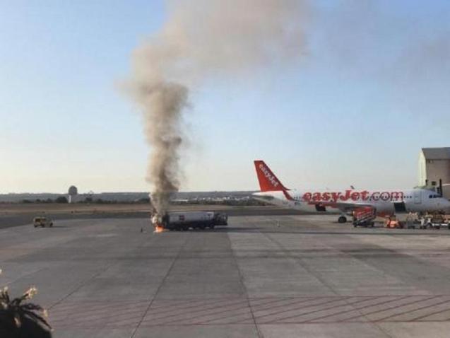 Fire at Palma airport