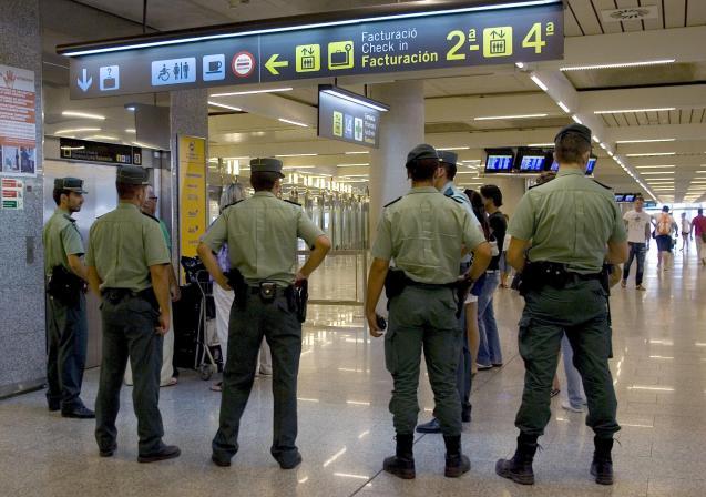 Guardia Civil at Palma airport
