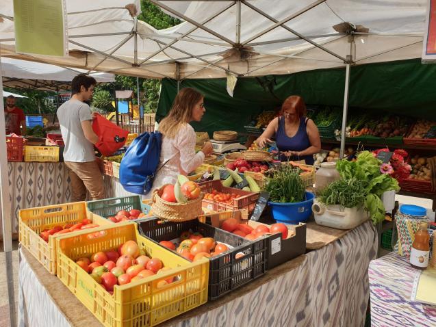 Organic food market, Palma