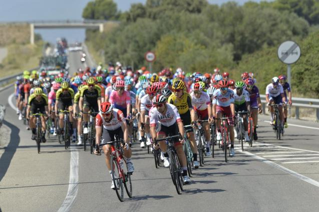 """Cyclists in action during the """"Vuelta a Espana"""""""