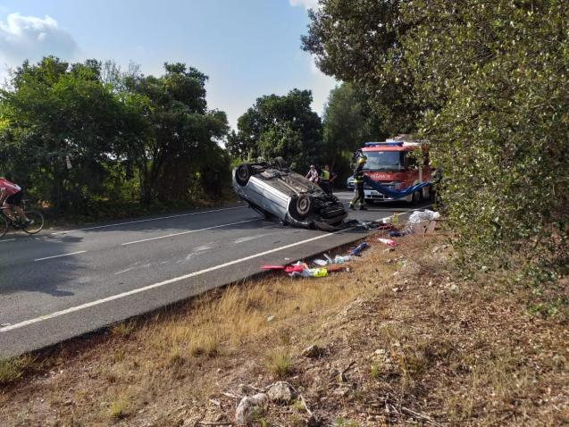 Traffic accident in Sa Pobla