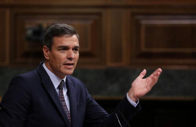 Spain's acting Prime Minister Pedro Sanchez