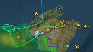 Planes over Majorca.