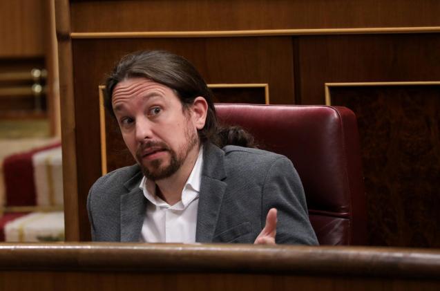 Unidas Podemos leader Pablo Iglesias.