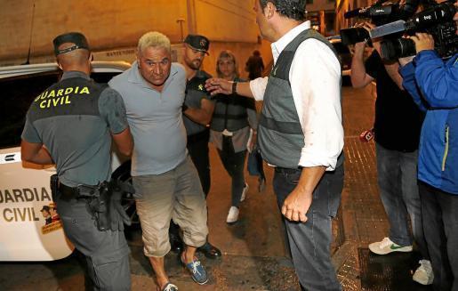 Juan Prats on his way to court.