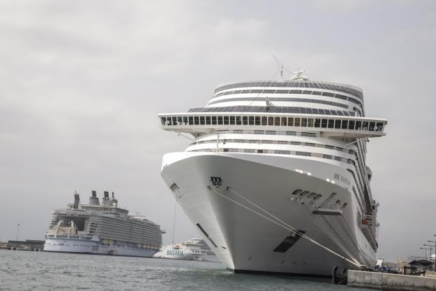 Cruise ships in Palma's port