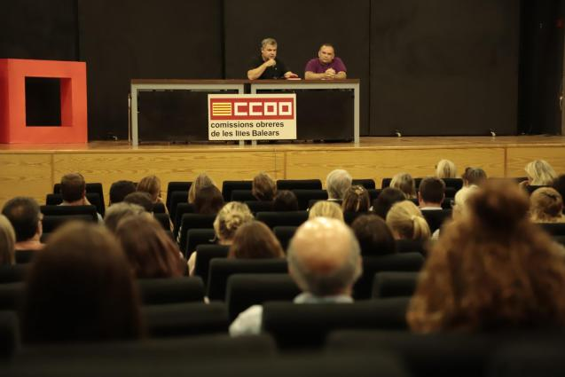 CCOO meeting last night in Palma