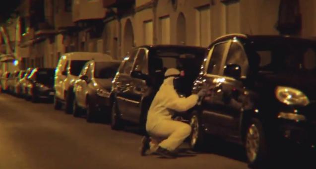 Arran member attacks a rental car.
