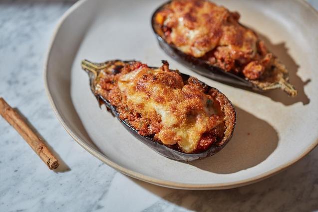 Majorca-style stuffed aubergine