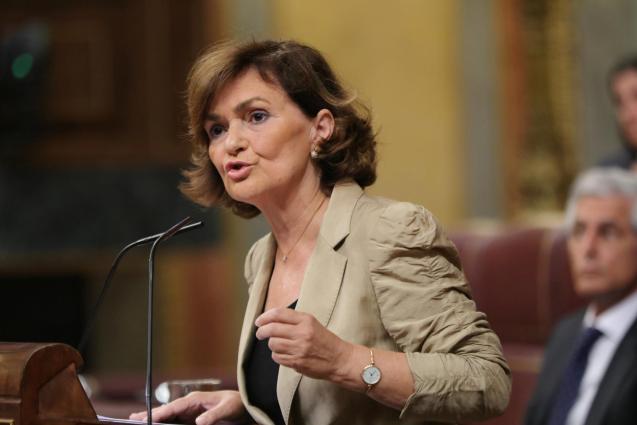 Deputy prime minister Carmen Calvo