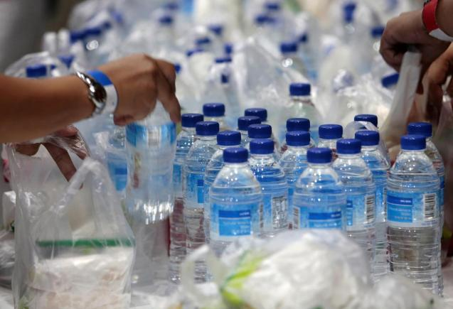 An average of 175 litres of water from plastic bottles is consumed per person