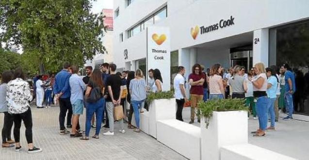 Thomas Cook office at Palma Airport