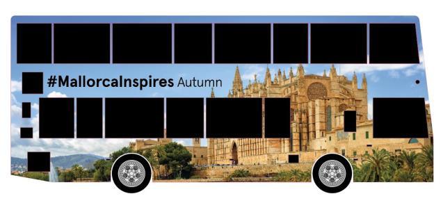 Double Decker London bus promoting Majorca.